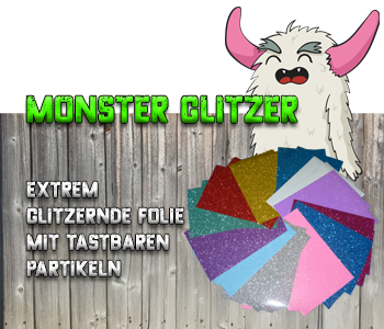 Monster Glitzer Flex-Folie