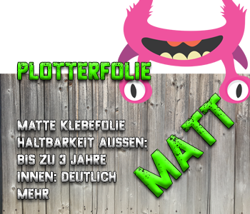 Plotterfolie matt - Vinyl