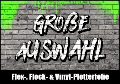 Flexfolie Flockfolie Vinylfolie Plotterfolie